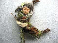 Xochiquetzal, Fertility Goddess, Assemblage Spirit Art Doll by Griselda via Etsy