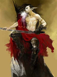 male elf swords man by ~Enaxor on deviantART