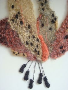 Hand Knitted Botanical Picture. by HandKnittedByLaura on Etsy, £30.00