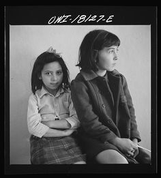 Questa, New Mexico. Spanish-American girls, patients at the dental clinic operated by the Taos County cooperative health association