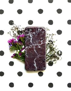 Red Marble Polka Dot iPhone 6 6S Plus Case, Galaxy Cover