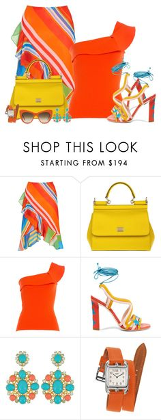"""""""Bright Colours for Summer! (Outfit only!) - Contest!"""" by asia-12 ❤ liked on Polyvore featuring Lauren Ralph Lauren, Dolce&Gabbana, Roland Mouret, Paula Cademartori, Hermès and STELLA McCARTNEY"""