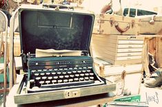 a typewriter...and it weighed a ton!