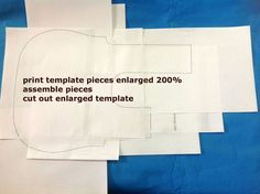 Picture of Enlarging the template