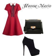 Hanna Marin by rebecca-fitzpatrick on Polyvore featuring polyvore fashion style Valentino Giuseppe Zanotti Balenciaga