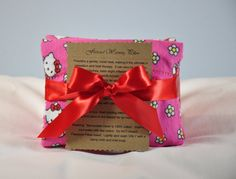 Scented Hot Cold Therapy Pillows with Flax Seed by RainieGarden on Etsy