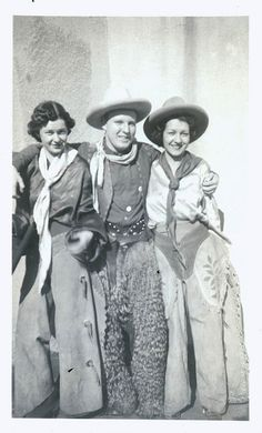 Cowgirls & Cowboy in Chaps and Hats via maclancy This looks like it was taken in 1930's