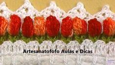 Mais uma videoaula do meu canal de artesanato no YouTube o Artesanatofofo Aulas e Dicas. Um barrado decrochêde tulipas super charmoso.  ...