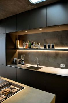 Luxury Small Kitchen 85 Luxury Kitchen Cabinets Design and Decor Ideas Luxury Kitchen Design, Kitchen Room Design, Kitchen Cabinet Design, Luxury Kitchens, Interior Design Kitchen, Home Kitchens, Kitchen Decor, Black Kitchens, Cheap Kitchen Cabinets