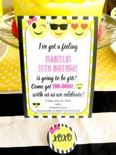 Emoji Themed Birthday Party Invitation via Pretty My Party