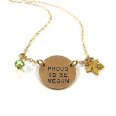 Personalized Necklace Hand stamped  Necklace proud by SariGlassman, $45.00