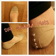DIY style project on my fashion blog... studded flats! I love how mine turned out :) http://feathersandflorals.blogspot.com/