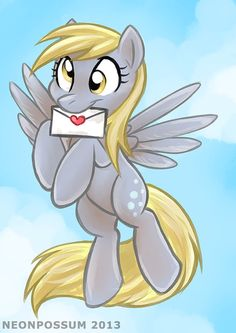 Print of  'Special Delivery' Derpy Hooves MLP A4