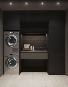 15 clever ideas for small laundry room design 00003 Home Room Design, Dream Home Design, Bathroom Interior Design, Modern House Design, Modern Laundry Rooms, Laundry Room Layouts, Laundry Room Organization, Laundry Room Inspiration, Laundry Room Design