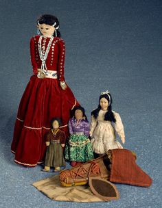 Lot of Native American Dolls----  Cowan's Auctions
