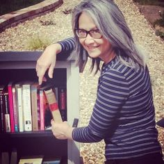 Do you have a Little Free Library in your neighborhood? Here's ours: Take one, Give one, everyone wins. I love and support my local libraries too!