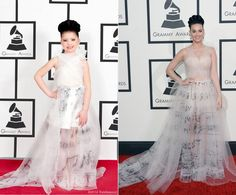 Move over Katy Perry, there's a new star in town and she's a much younger version of you! Toddlewood photographer Tricia Messeroux was able to replicate the hottest all-star looks from the 2014 Grammy Awards, including Katy Perry's ethereal Valentino frock featuring musical notes.