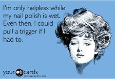 nail polish drying