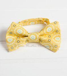 Boy's Bow Tie Newborn Baby Child Mustard by Tomastutusandthings, $9.50