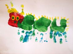 Very Hungry Caterpillar Hand-print Art
