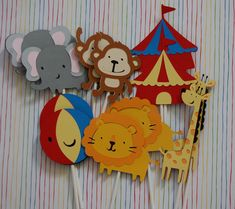 Circus Cupcake Toppers. $11.50, via Etsy.