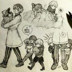 "aokamei: ""Mama Haise and Baby Kanekis..! """