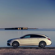 As awesome as seaside attractions can be: the Mercedes-Benz CLA Shooting Brake.  Photo: @svenklittich for #MBsocialcar  #MercedesBenz #Mercedes #Benz #CLA #ShootingBrake
