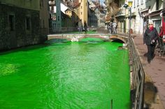 Why Have Rivers In France Turned Vivid Green