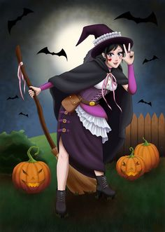 Katsumi Fujiwara Witch by HamoridzuYato.deviantart.com on @DeviantArt