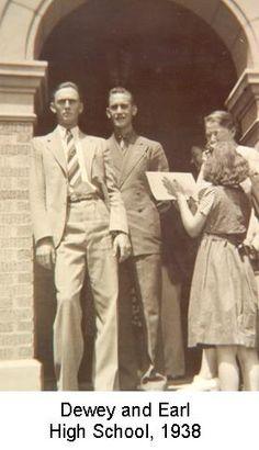 Dewey and Earl at high school - 1938