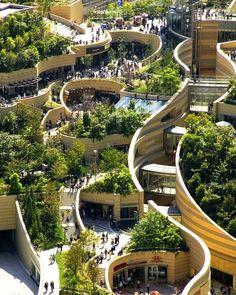 """И вид сверху замечательный)) """"@Pavtoll: Namba Parks - парки на крыше небоскреба, Осака Япония. """""""