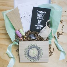 What a great idea. A subscription service for craft projects and supplies.