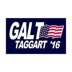 CafePress  Galt Taggart 2016 Sticker Rectangle  Rectangle Bumper Sticker Car Decal >>> See this great product.