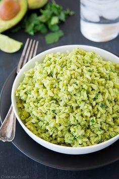 Avocado Cilantro Lime Rice - replace rice with cauliflower rice
