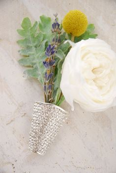 Boutonniere Holder Rhinestone