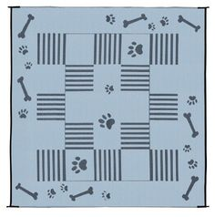 Ming's Mark DA1 Black 9′ x 9′ Dog Paw / Bone Mat « DogSiteWorld-Store