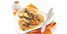 Preworkout Pancakes. Stay energized through your workouts with these protein-packed pancakes.