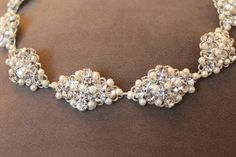 Erica Koesler Crystal And Pearl Headband / Headpiece, 32% off | Recycled Bride