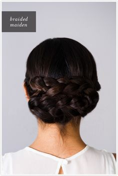 Braided Maiden - Difficulty level: Easy! If you can braid, you can do this. Believe it or not, this actually IS as easy as they say...if you have someone else do it for you.