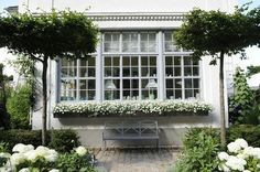 Beautiful window planter box. Might just need to build this at my house... :)