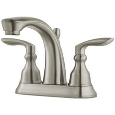 Pfister LG48-CB1 Avalon 1.2 GPM Centerset Bathroom Faucet with Metal Pop-Up Assembly (Chrome (Grey) Finish)