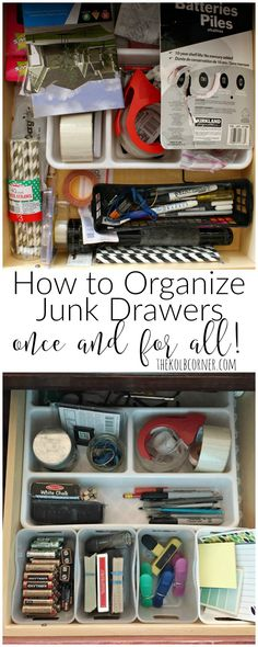 Tips and tricks on how to organize junk drawers and keep it that way!