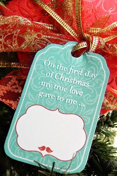 12 Days of Christmas for Husband with Free Printable Gift Tags - (I had to copy and paste to blank page but it worked!)