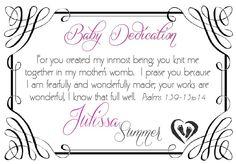 Baby Dedication   Dedicacion de Niños