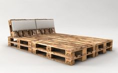 DIY pallet bed ideas – Practical and stylish ideas for comfortable sleeping area Wooden Pallet Beds, Pallet Bed Frames, Diy Pallet Bed, Reclaimed Wood Furniture, Diy Pallet Furniture, Diy Pallet Projects, Wood Pallets, Bed With Pallets, Pallet Patio