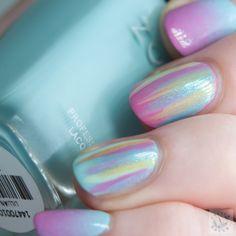 Polish Hound: Waterfall & Gradient Nails with Zoya Delight [Nail Art]