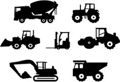 Construction Trucks Wall Vinyl Decals Art by sixunderatree on Etsy, $22.00