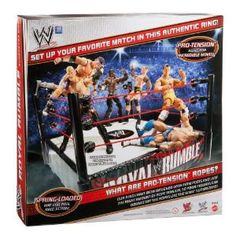 From the Manufacturer                  WWE Royal Rumble Superstar Ring: Kids and collectors alike will love the authenticity of our Superstar rings, made with ProTension technology so your figures can bounce off the ropes just like the WWE Superstars. Choose between rings from RAW, SmackDown or your favorite WWE events, including Royal Rumble or SummerSlam and get ready to leap into high-flying, body-slamming action with spring-loaded mats, turnbuckles and authentic logos.