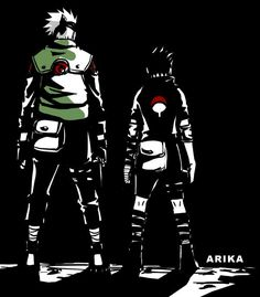Sasuke and Kakashi by kalichan88.deviantart.com on @DeviantArt