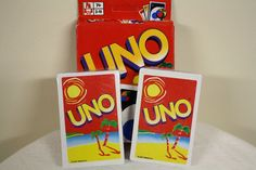 UNO Special Summer Edition Card Game 2002 - Original Uno Rules Uno Card Game, Uno Cards, Card Games, The Originals, Summer, Ebay, Summer Time, Playing Card Games